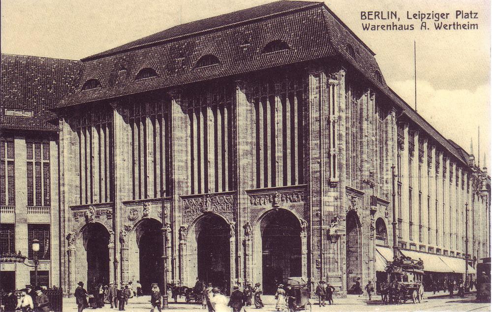 Berlin, Germany - 1900: The Wertheim department store on Leipziger Platz.