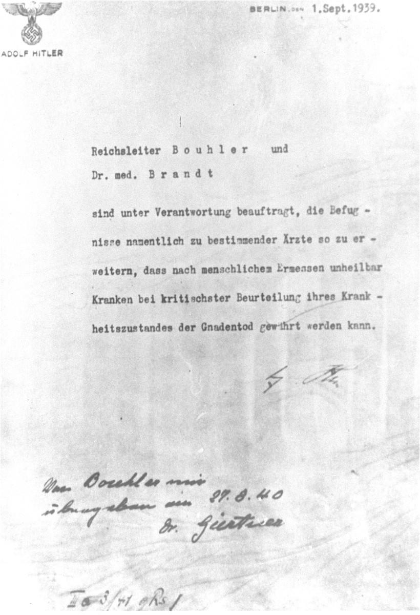 T-4 Authorization Letter signed by Adolf Hitler - for Oct. newsletter.jpg